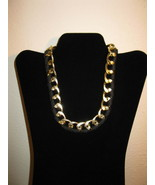 Chic Polished Gold Ribbon Wrapped Chain Chunky Necklace New & Hot! #D661 - $15.99