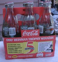 Coke OSU Heisman Trophy Bottle Set,from 1995,Ar... - $9.99