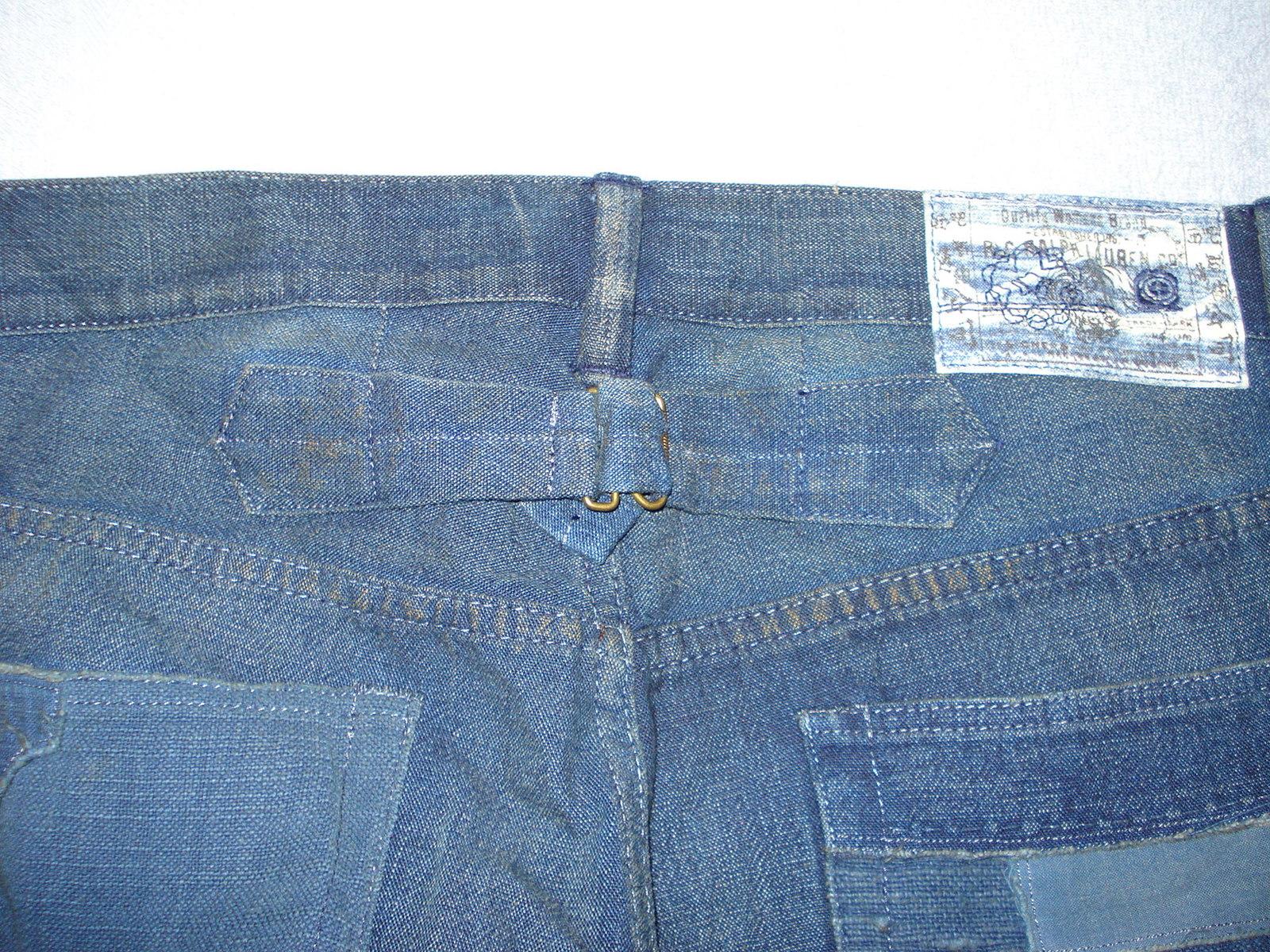 NWT Ralph Lauren Blue Label Indochine Patchwork Jeans 100% Cotton Size 27  - $92.00