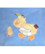 Taggies Duck Ducky Baby Blanket Blue Yellow Ribbon Loops Mommy Baby - $24.72
