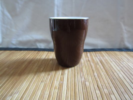 A Starbucks Brown Aida Coffee Tea Cup No Handle 8oz 2008 Ceramic Mug - $14.99