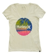 Hurley Krush & Only Size XS Womens White Graphic Print T-Shirt - $14.99