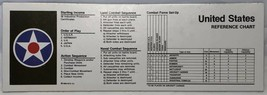 1984 - 1987 Axis & Allies Board Game Pieces - Reference Chart United States - $9.79