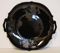 L.E. Smith Mt. Pleasant Black Amethyst Glass 2 ... - $44.95