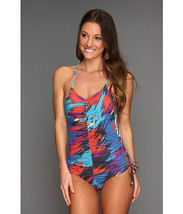 NWT $185 Rachel Pally Printed Maillot Abstract Swimsuit S - $47.52