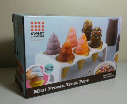 POPSICLE MAKER MINI FROZEN TREATS 6 MOLDS 1 STAND SWEET CREATION BY GOOD COOK