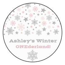 """12 Winter Wonderland Birthday Party Stickers Favors Label 2.5"""" Onederlan... - $8.99"""