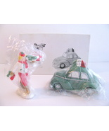 Dept 56 Pizza Delivery Snow Village Set of 2 Retired 1998 New - $27.00