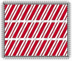 Christmas Candy Cane - Designer Strips - Edible Cake Side Toppers - D526 - $7.65