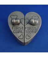 Baby's First Curl and First Tooth Heart Shaped Pewter Box - $9.99