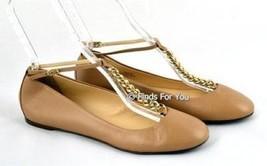J Crew Jayne T Strap Ballet Flats Size 8 #13376 $198 Brown New - $106.42