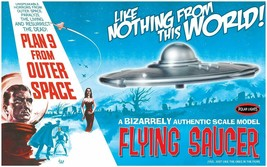 Polar Lights Plan 9 From Outer Space Flying Saucer model kit  - $27.67