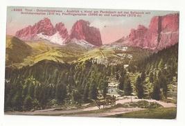 Italy Road in the Dolomites von Hotel Pordoijoch Vintage Postcard - $6.69