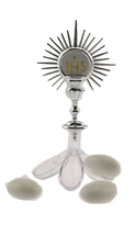 24 Silver Jordan Almond Plastic Candy Holder with Communion Chalis with ... - $7.99