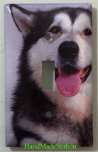 Alaskan Malamute Dog Light Switch Power Outlet Duplex Cover Plate Home decor image 1