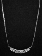 Beautiful Silver Infinity Gemstone Necklace New & Hot! #D667 - $15.99