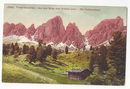 Italy Tirol Alps Weg zum Grodner Joch Techlerspitzen Vintage Postcard - $4.99