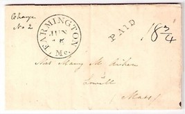 1839 Farmington, MS Discontinued/Defunct Post Office (DPO) Postal Cover - $7.99