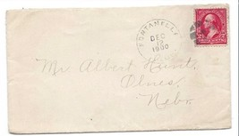 1900 Fontanelle, NE Discontinued/Defunct Post Office (DPO) Postal Cover - $7.99