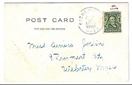 1908 Fisherville, MA Discontinued/Defunct Post Office (DPO) Postcard - $7.99