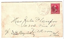 1892 Fredericksburgh, OH Discontinued/Defunct Post Office (DPO) Postal C... - $7.99