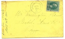 1880 Fredericktown, OH Vintage Post Office Postal Cover - $7.99