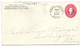 1899 Forestville CT Discontinued/Defunct Post Office (DPO) Postal Cover - $7.99