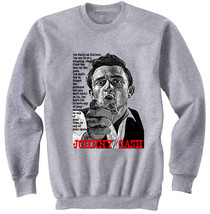 Johnny Cash   New Cotton Grey Sweatshirt  S M L Xl Xxl - $34.53