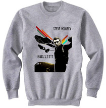 STEVE MCQUEEN BULLITT - NEW COTTON GREY SWEATSHIRT- S-M-L-XL-XXL - $34.38