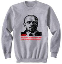 VLADIMIR LENIN SOVIET UNION 2 - NEW COTTON GREY SWEATSHIRT- S-M-L-XL-XXL - $47.42