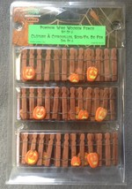 Lemax Spooky Town Halloween Pumpkin Wire Wooden Fence Set of 3 in Package  - $5.99