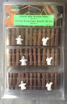 Lemax Spooky Town Halloween Ghost Wire Wooden Fence Set of 3 in Package  - €5,11 EUR