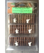 Lemax Spooky Town Halloween Ghost Wire Wooden Fence Set of 3 in Package  - $5.99