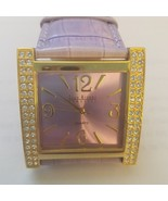 New Joan Rivers Classics Watch Purple Lavender Leather Band Gold Rhinest... - $30.45