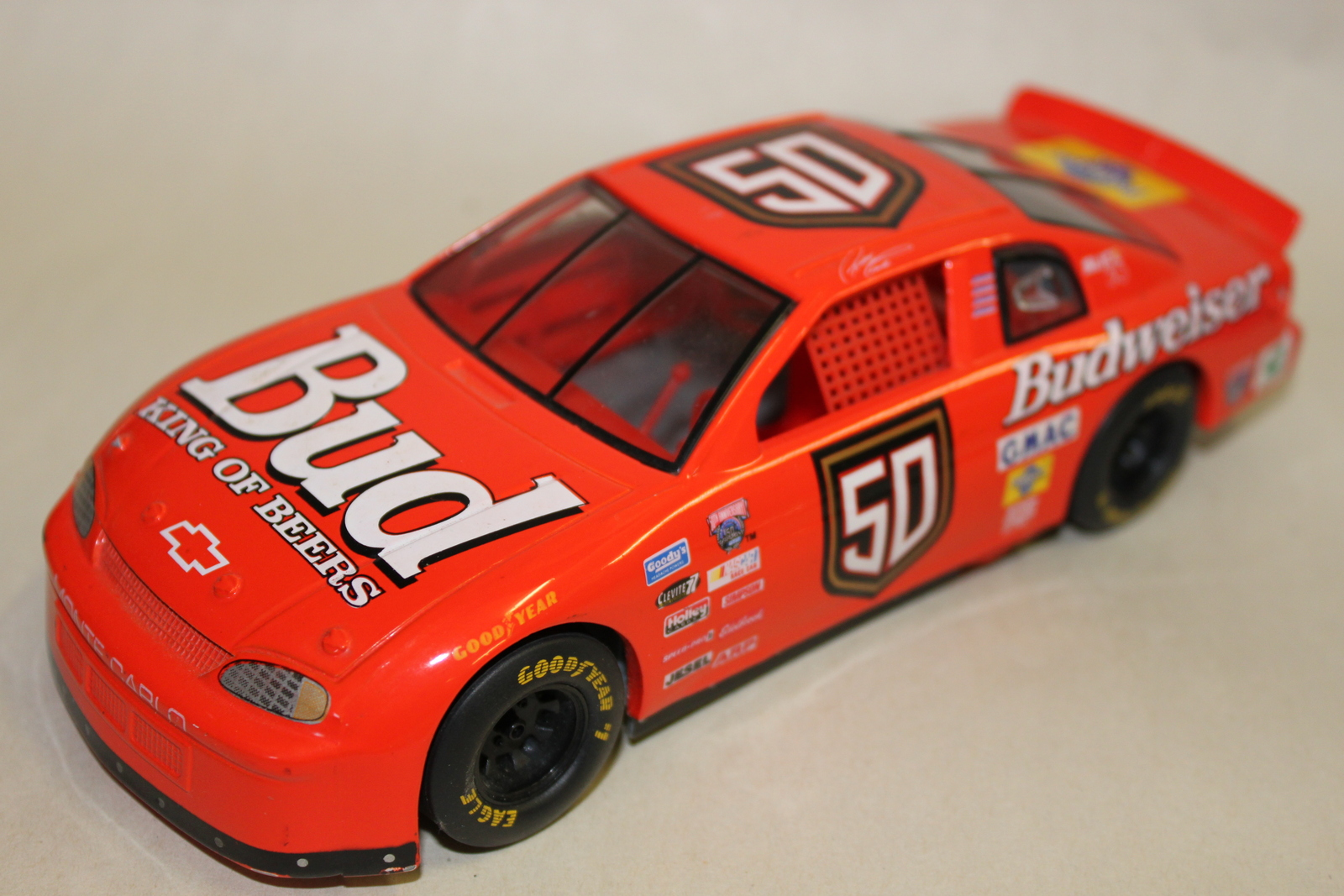 Bud 50 Budweiser King of Beers Red Model Car Monte Carolo
