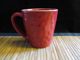 2007 Starbucks Coffee Tea Hammered Dimpled Design Red Cup Mug 11 oz. - $14.99