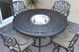 Elizabeth Outdoor Patio 5pc Bar Set Cast Aluminum Dark Bronze - $1,649.34+