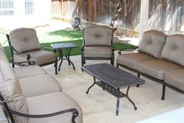Elizabeth Outdoor Patio 6pc Seating Group Cast Aluminum Dark Bronze - $2,243.34+