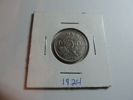 1924 Canadian Nickel coin A428 - $2.48