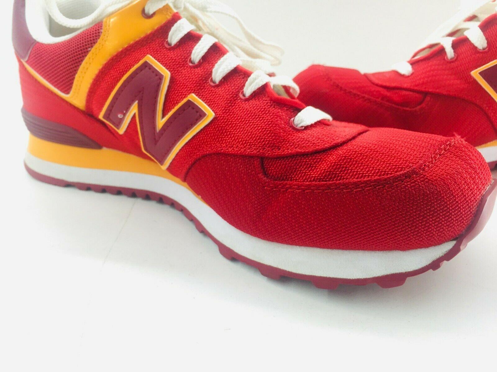 New Balance Athletic Sneaker Shoes Men's Sz 11.5 Red Orange ML574PPR  574 EUC image 3