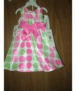 Rare Editions Baby Girls Multi-Color Polka Dot 2 Pc Dress Set, Size 18 M... - $21.77