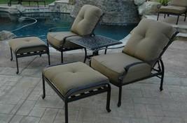 Elizabeth Outdoor Patio 5pc Adjustable Club Chairs Cast Aluminum Dark Br... - $1,146.60