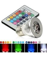 3W E27 16 Color LED Magic Light Bulb with Wireless Remote Control AMAZING - $5.29
