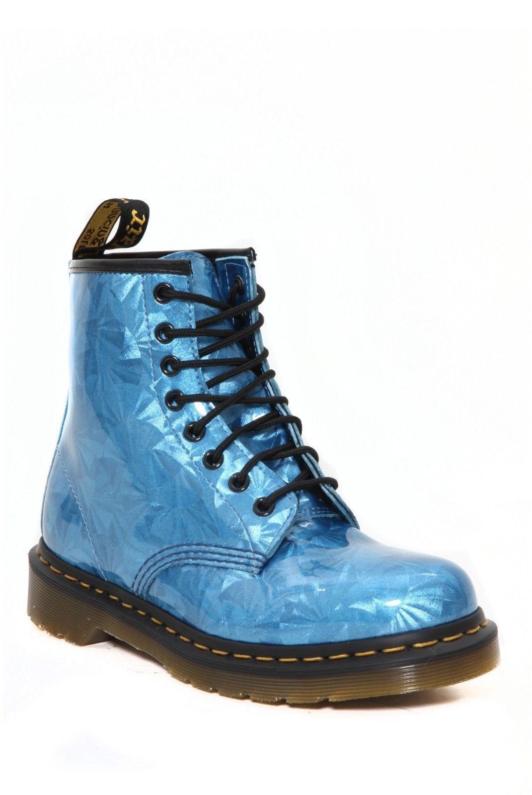 NEW Dr. Martens Sapphire Jewel 8-Eye Zip Boots Hot Topic Punk Cyber Steampunk