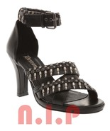 Demonia Heavy Metal Punk Goth Cyber Killer Bullet Open toes Sandals Heel... - $195.00