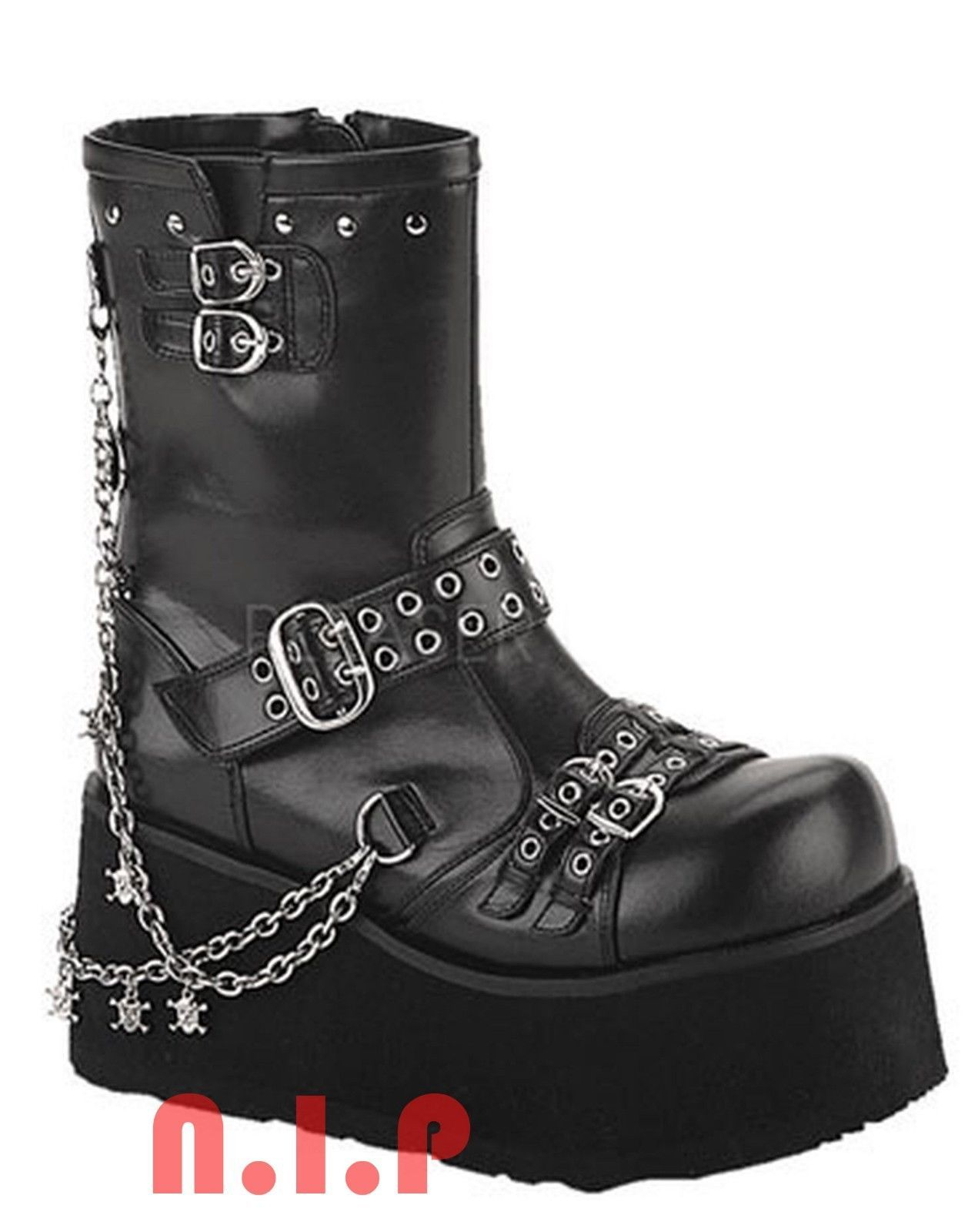 56d334bf9233 Demonia Skull Platform Heavy Metal Punk Goth and 50 similar items. 57