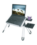 E-Stand Aluminum Multi purpose Laptop Stand Desk Mouse Pad Cup Holder (S... - £68.53 GBP