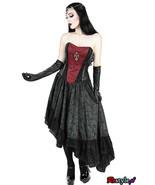 Evening Gothic Corset Costume Vampire Grown Visual Kei Punk Long Cosplay... - $208.00