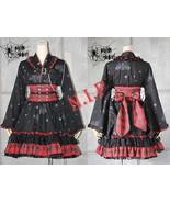Emo Jrock Visual Kei Punk Cyber Princess Japanese Gothic Lolita Kimono B... - $156.00