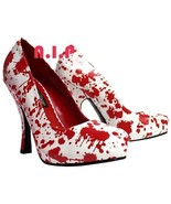 FUNTASMA White Blood Splatter Horror Hot Topic Punk Goth Pumps High Heel... - $189.00